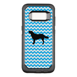 Baby Blue Chevron With Golden Silhouette OtterBox Commuter Samsung Galaxy S8 Case