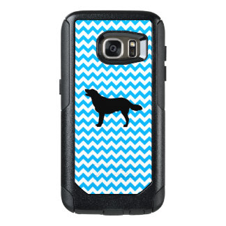 Baby Blue Chevron With Golden Silhouette OtterBox Samsung Galaxy S7 Case