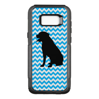 Baby Blue Chevron With Lab Silhouette OtterBox Commuter Samsung Galaxy S8+ Case