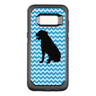 Baby Blue Chevron With Lab Silhouette OtterBox Commuter Samsung Galaxy S8 Case