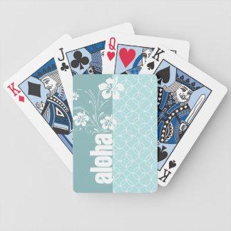 Baby Blue Circles; Aloha Poker Deck