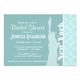 Baby Blue Circles; New York 13 Cm X 18 Cm Invitation Card