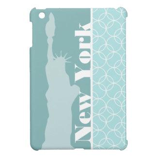 Baby Blue Circles New York iPad Mini Case