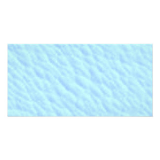 Baby Blue Clouds textures Personalized Photo Card