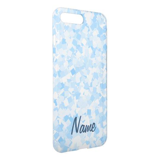 Baby blue confetti design iPhone 7 plus case