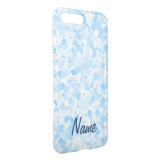 Baby blue confetti design iPhone 8 plus/7 plus case