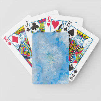 Baby Blue Crystal Agate Bicycle Playing Cards