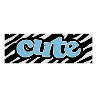 Baby Blue Cute Poster
