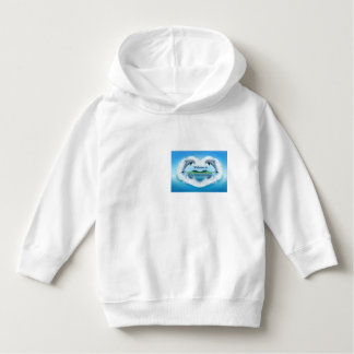 Baby Blue Dolphin Kids Hoody Top