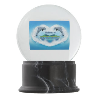 Baby Blue Dolphin Snow globe
