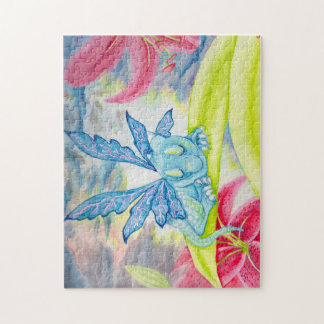 Baby Blue Dragon Fairy lily storm puzzle