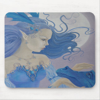 Baby Blue Dragon mouse pad