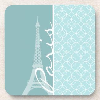 Baby Blue Eiffel Tower Paris Drink Coaster