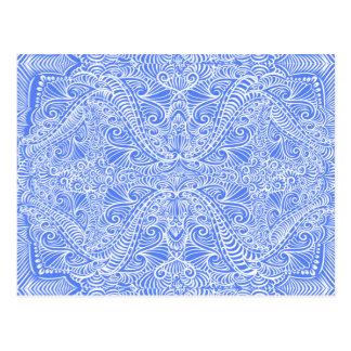 Baby Blue Elegant flow Postcard