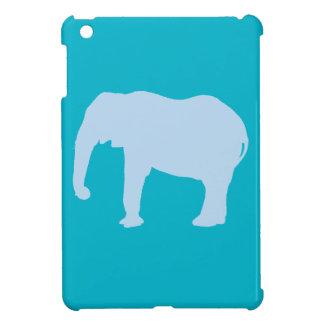 Baby Blue Elephant Silhouette iPad Mini Cover