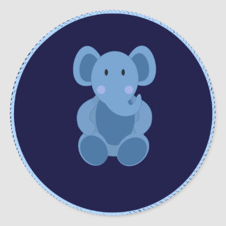 Baby: Blue Elephant Stuffed Toy Sticker
