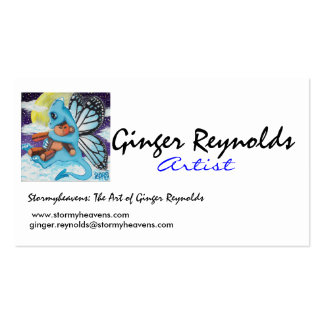 Baby Blue fairy dragon Buisness Card Business Card Template