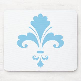 Baby Blue Fleur de lis Mouse Pad