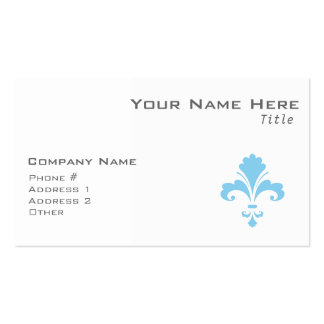 Baby Blue Fleur de lis Pack Of Standard Business Cards