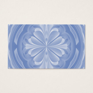 Baby Blue Floral Butterfly Business Card