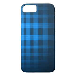 Baby Blue Ghost Tartan Pattern iPhone 7 Case