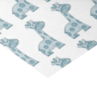 Baby Blue Giraffes Tissue Paper