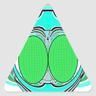 Baby blue green superfly design triangle stickers