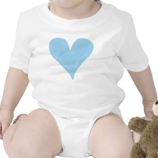 Baby Blue Heart Infant Creeper