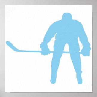 Baby Blue Hockey Poster