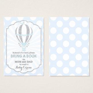 Baby Blue Hot Air Balloon Bring a Book Card