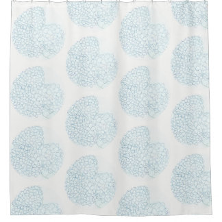 Baby Blue Hydrangea Shower Curtain