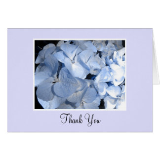 Baby Blue Hydrangea Thank You Card