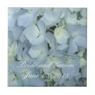 Baby Blue Hydrangeas Ceramic Tile