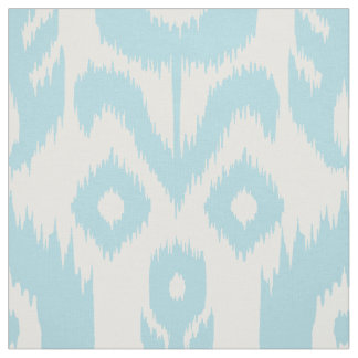 Baby Blue Ikat Pattern Fabric