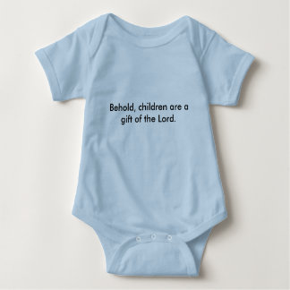 Baby Blue Jersey Children Gift of the Lord Baby Bodysuit