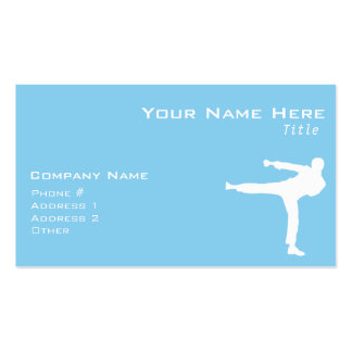 Baby Blue Karate Pack Of Standard Business Cards