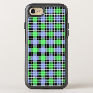 Baby blue/Light green plaid white stripe OtterBox Symmetry iPhone 8/7 Case