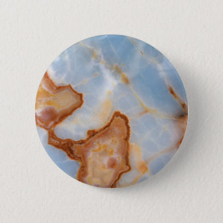 Baby Blue Marble with Rusty Veining 6 Cm Round Badge