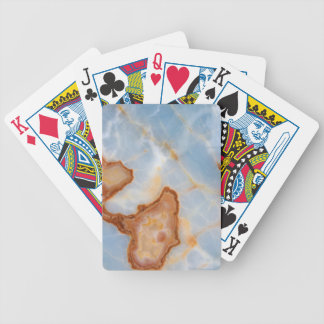 Baby Blue Marble with Rusty Veining Bicycle Playing Cards