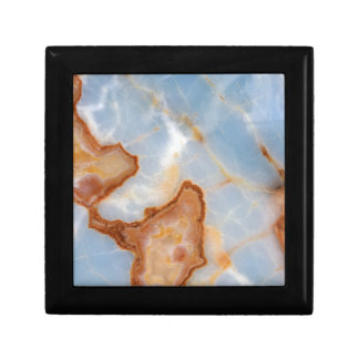 Baby Blue Marble with Rusty Veining Gift Box