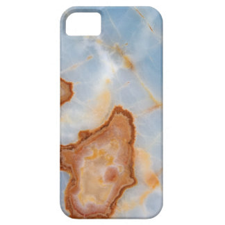 Baby Blue Marble with Rusty Veining iPhone 5 Cover