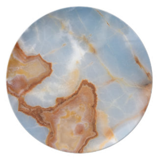 Baby Blue Marble with Rusty Veining Party Plates