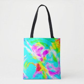 Baby Blue Mist Abstract Tote | Soft Cottage Chic