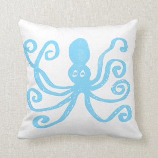 Baby Blue Octopus Cushion