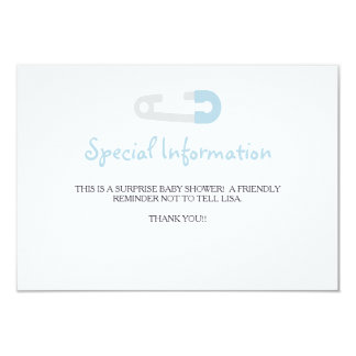 Baby Blue Penguin Information Inserts Card