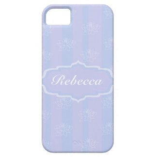 Baby Blue personalized delicate Lotus pattern Barely There iPhone 5 Case