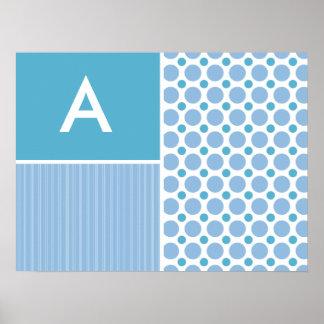 Baby Blue Polka Dot; Dots Posters