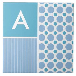 Baby Blue Polka Dot; Dots Ceramic Tiles