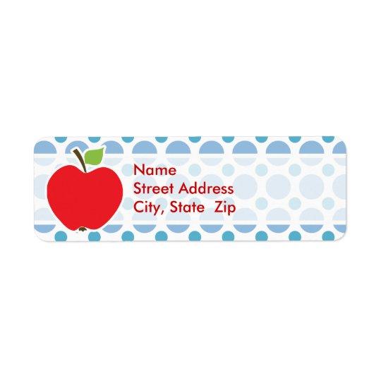 Baby Blue Polka Dots; Apple Return Address Label