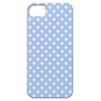 Baby Blue Polka Dots Modern Pattern PD010 iPhone 5 Covers